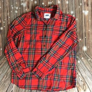 Old Navy Long Sleeve Button Up Flannel Shirt